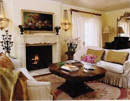 ideas for country living room in blues