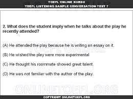 toefl ibt online listening conversation test set toefl ibt toefl listening toefl ibt conversation test 7 4