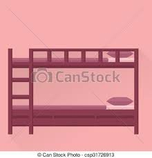 cartoon bunk bed. Side View Flat Illustration Of Bunk Bed Cartoon T