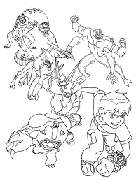 ben 10 ultimate alien coloring pages ten free books 1200x1600