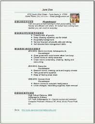 Housekeeping Resume Examples Unique Resume Template Housekeeper Resume Sample Free Career Resume Template