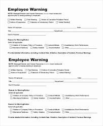 Verbal Warning Sample Employee Warning Notice Template Word Inspirational Employee Warning