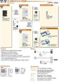 aiphone chime com c 123l a single master set aiphone c123 intercom brochure pdf