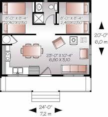 Small Bedroom Floor Plans 20x24 Floor Plan W 2 Bedrooms Floor Plans Pinterest House