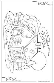 Casa Da Colorare Per Bambini Con Disegni Da Colorare Tante Sagome Da