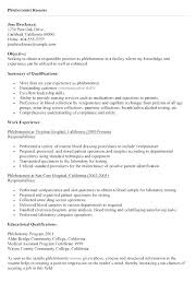 Phlebotomy Resume Examples Amazing Phlebotomy Resume Templates Certified Technician Resume Template