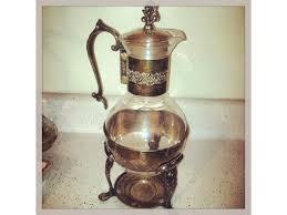 vintage glass coffee carafe 30