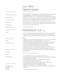 Best Solutions Of Operation Manager Resume Objective Examples
