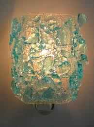recycled glass lighting. bombay sapphire gin recycled glass night light rebornglasscom lighting