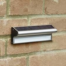solarcentre kensington solar led stainless steel outdoor wall light lighting direct