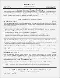 Resume Sample For Supervisor In Restaurant Inspirational Maintenance