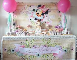 boho chic minnie mouse birthday party