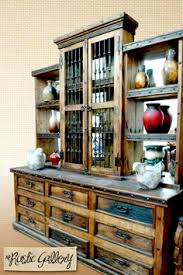 rustic hutch dining room: large dining room hutch rustic wood http therusticgallerycom