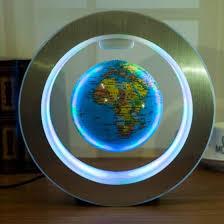 Shop <b>Novelty</b> Round <b>LED World Map</b> Floating Globe Magnetic ...