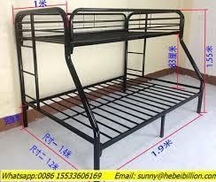 wrought iron metal bunk beds single