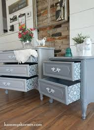 restoring furniture ideas. kammyu0027s korner delightful details gray white and blue french provincial nightstands with refinished furniturefurniture makeoverfurniture ideasgray restoring furniture ideas 5