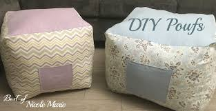 DIY Pouf Tutorial