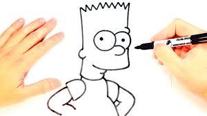 o dibujar a bart simpson paso a paso dibujo facil bart simpson