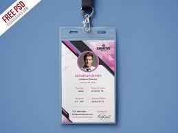 Identification Card Samples Company Photo Identity Card Psd Template Psdfreebies Com