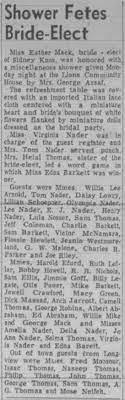 Wedding Shower for Ester Mack Marshall News Messenger 2 Mar 1955 page 5 -  Newspapers.com