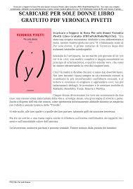 Scaricare Per sole donne Libro Gratuito PDF Veronica Pivetti