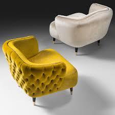 italian designer velvet tub chair