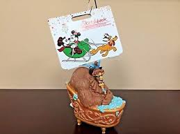 2017 disney sketchbook ornament bath time for the beast