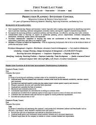 Inventory Control Resume Enchanting Production Planner Or Inventory Controller Resume Template Premium