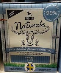 WET DOG FOOD ELK NATURAL INGREDIENTS Swedish <b>chunks</b> ...