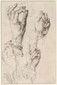 hand holding mirror drawing. Albrecht Dürer: Master Drawings, Watercolors, And Prints From The Albertina Hand Holding Mirror Drawing O