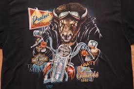 3d emblem party at sturgis bison t shirt harley davidson