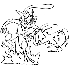Pokemon shinx coloring pages images source : Greninja Coloring Pages Of Pokemon Free Pokemon Coloring Pages