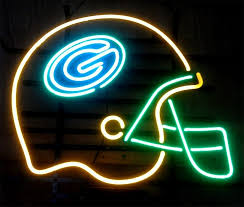 nfl green bay packers football helmet neon light sign 17x 15 image to close
