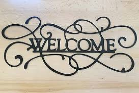 welcome sign metal wall art plasma cut decor gift idea home 40 99 picclick on plasma cut metal wall art with welcome sign metal wall art plasma cut decor gift idea home 40 99