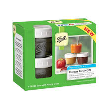 ball 4 oz mason jars. ball® regular mouth 4 oz. baby food jars with storage caps, count ball oz mason