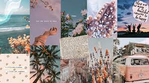 Aesthetic Collage Spring Desktop ...