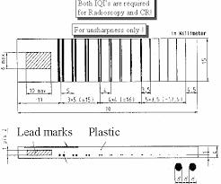 Din Iqi Chart 10 Fig B Duplex Wire Iqi En 462 5 Din Iqi Chart