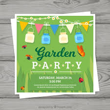 Invitation Free Download Impressive Garden Party Invitation Vector Free Download