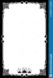 Fancy Restaurant Menu 004 Blank Restaurant Menu Template Card Background Frame
