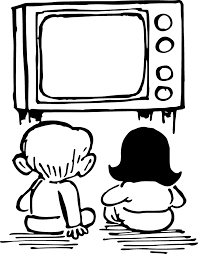 kids watching tv black and white. kids watching tv black and white o