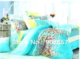 turquoise and gray bedding comforter sets creative queen print green yellow pink tur