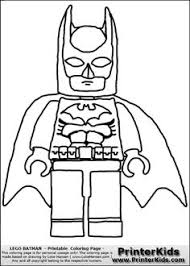 Small Picture Coloring page with a Lego variant of the DC Comics character Robin