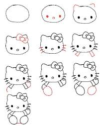 Draw Hello Kitty Drawing For Kids Hello Kitty Easy Drawings