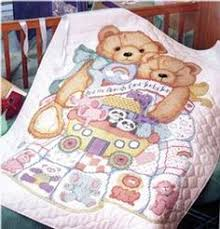 Bucilla ® Baby - Stamped Cross Stitch - Crib Ensembles - Babies ... & pattern for god bless babies stamped cross stitch | Bucilla God Bless Babies  Stamped Crib Cover Adamdwight.com