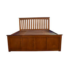 70 Off Raymour Flanigan King Platform Bed With Storage And Headboard ...