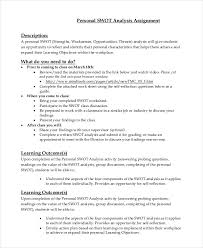 personal swot analysis examples in pdf word  personal swot analysis assignment1