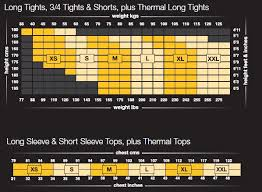 Drskin Compression Size Chart Skins Size Guide