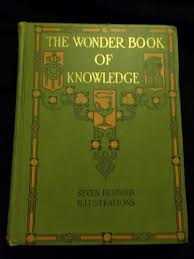 large book cover the wonder book of knowledge