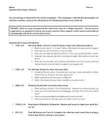 Sample Argument Essays Cocinacolibri Com