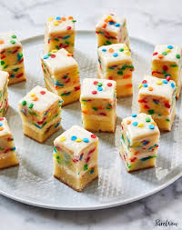 Birthday Cake Petit Fours Recipe Purewow